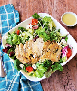 Herb Roasted Chicken Greek Salad