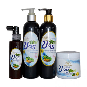 Organic Haircare - Complete Pack Kajon Herbal Hair Shampoo, Conditioner, Serum, And Treatment Mask