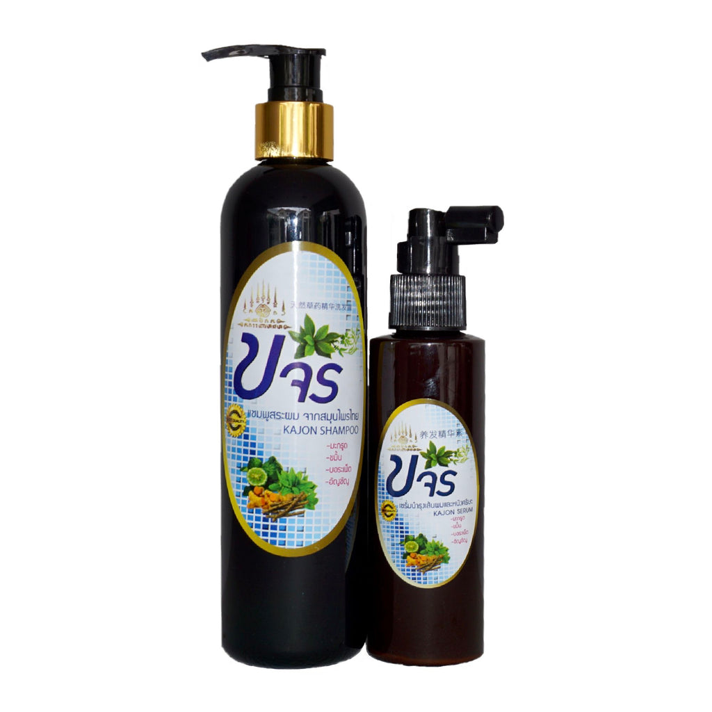 Organic Haircare - Pack Kajon Herbal Hair Shampoo And Serum - Hair Care ACSP Shop
