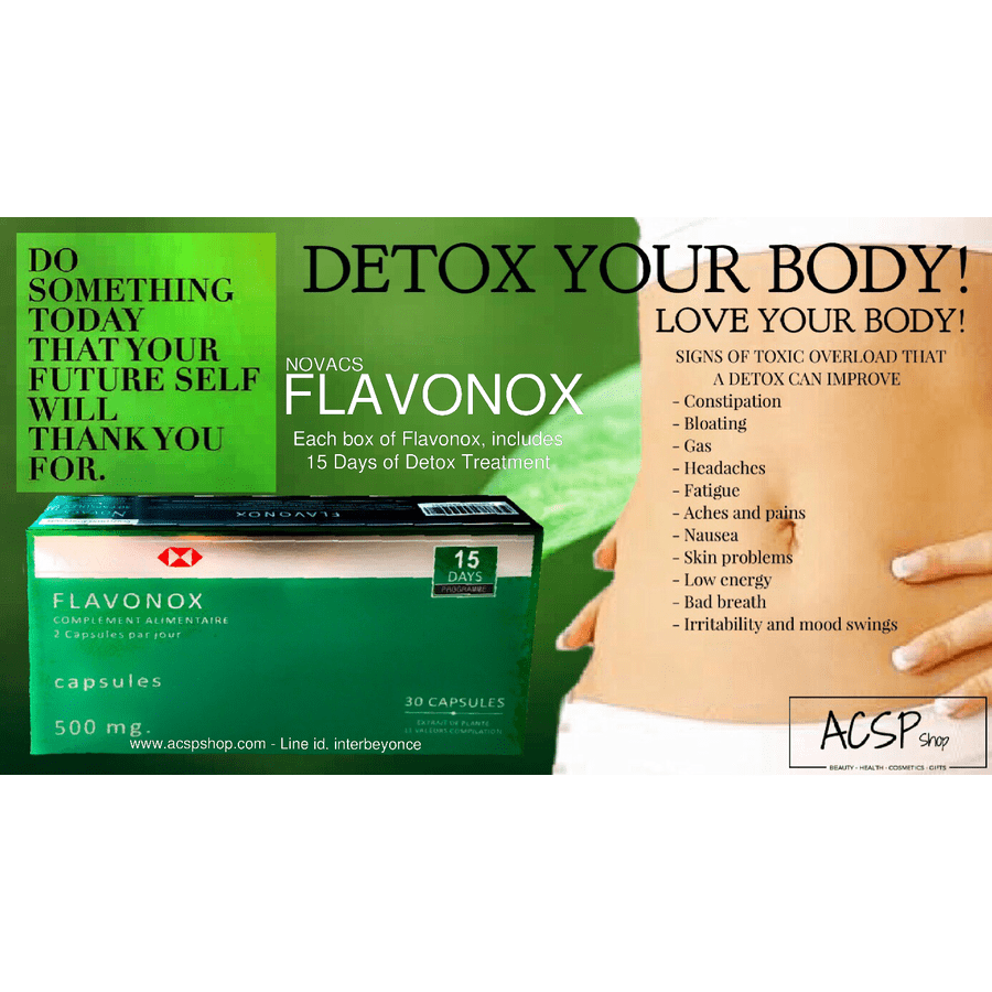 Supplement - Body Detox Flavonox ACSP Shop Novacs Supplements