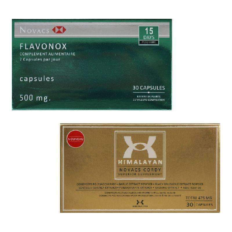 Supplements Set - Detox Cordyceps Starter Set Novacs Flavonox + Himalayan ACSP Shop