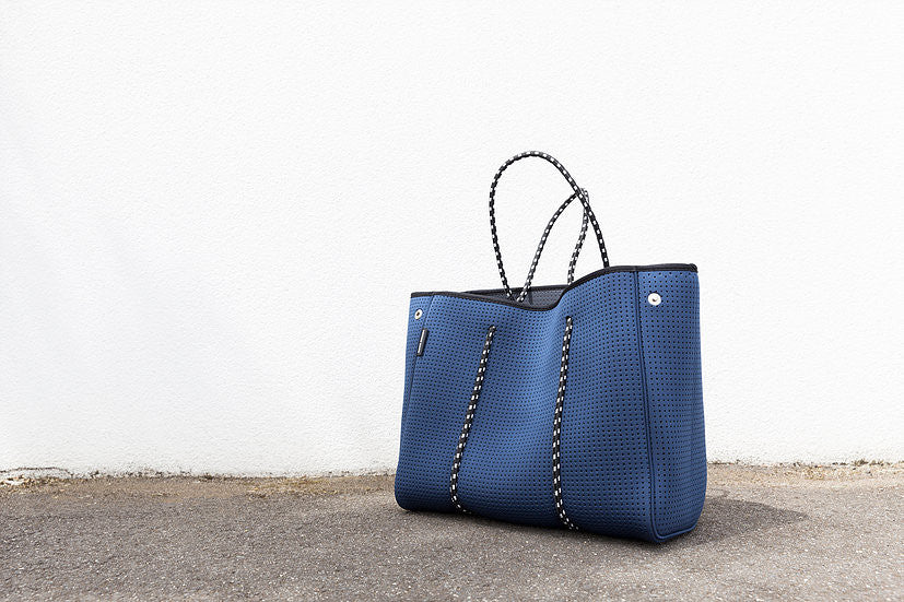 The Sorrento Prene Bag - Navy with Black interior