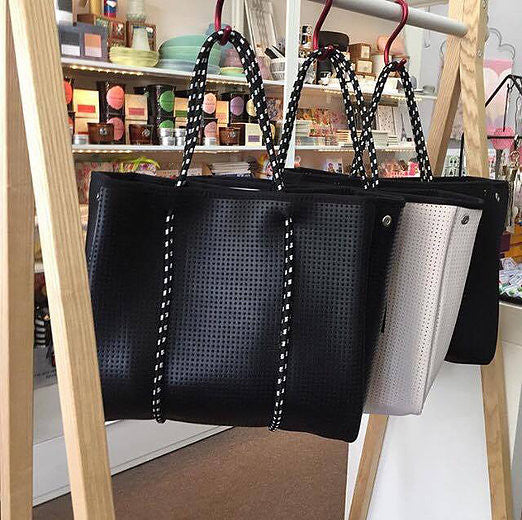 The Freddie Prene Bag - Metallic Black with Black interior