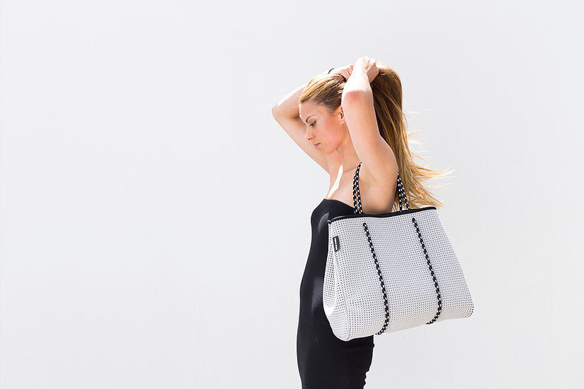 The Portsea Prene Bag - Grey with Black Interior