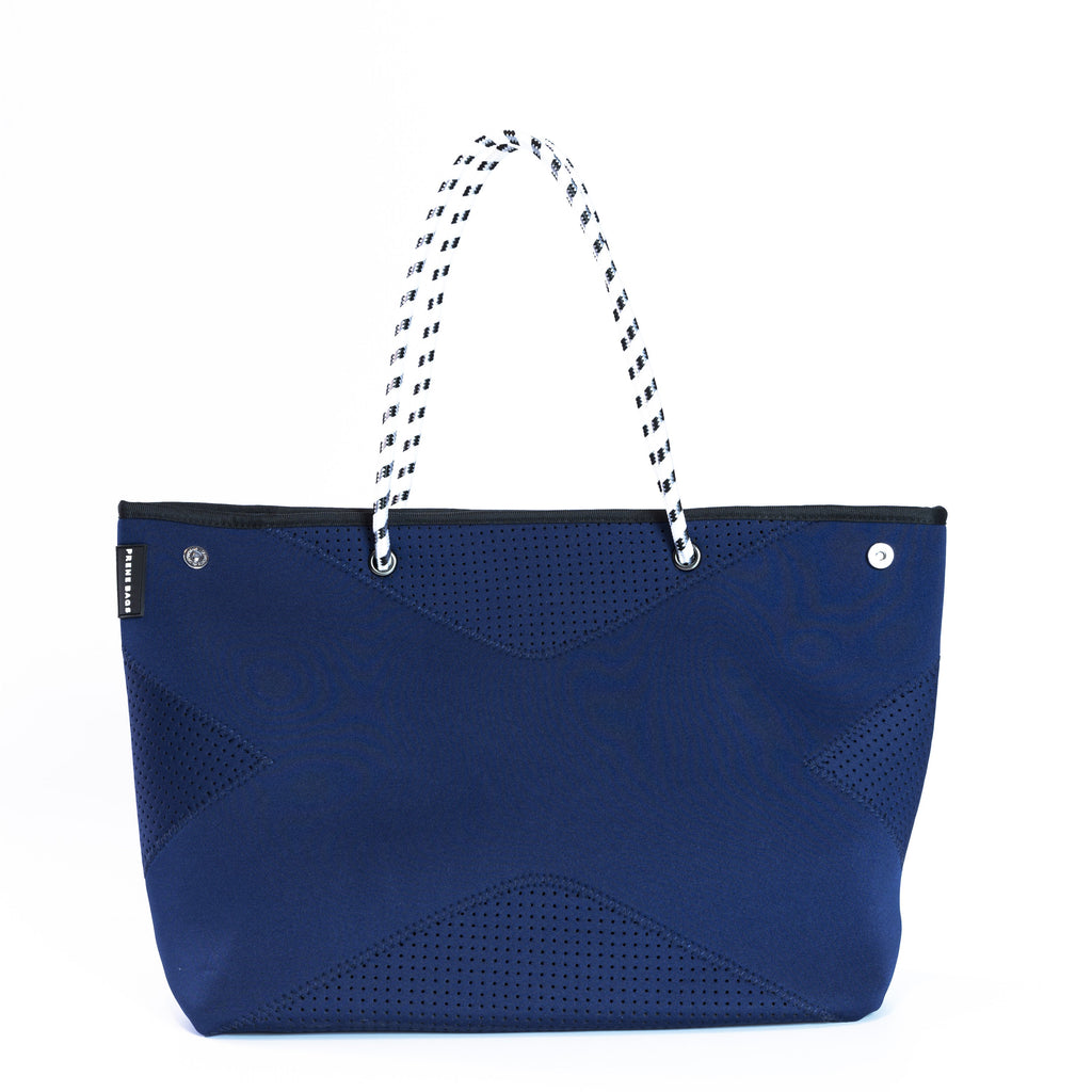 The X Prene Bag - Nautical Navy - Black Interior with White Handles