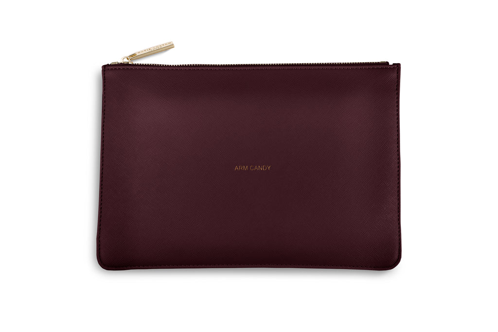 Katie Loxton Burgundy Perfect Pouch  - 'Arm Candy'