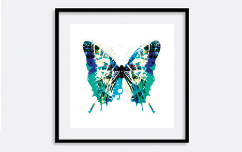 Green Butterfly Print