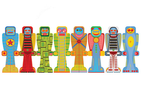 Robot Bookmark Set