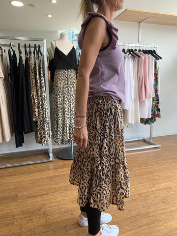 Escape Skirt - Animal Print Tan and Black