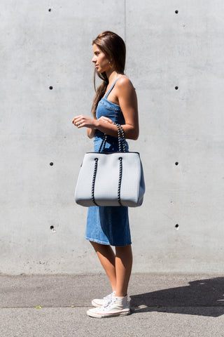 Portsea Prene Bag - Grey with Black Interior