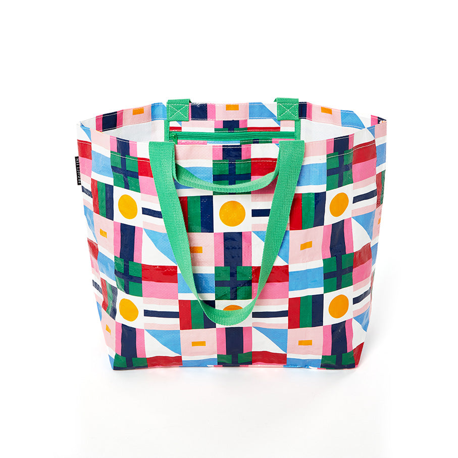 Traveller Medium Zip Up Tote - Flags
