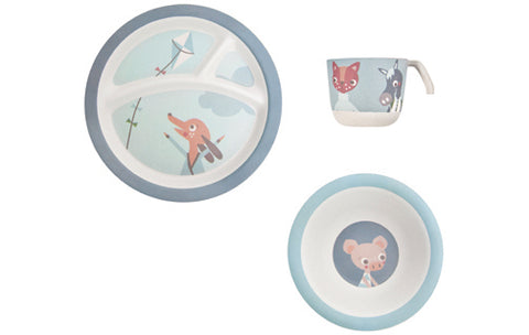 Bamboo Dinner Set: Farm Boy