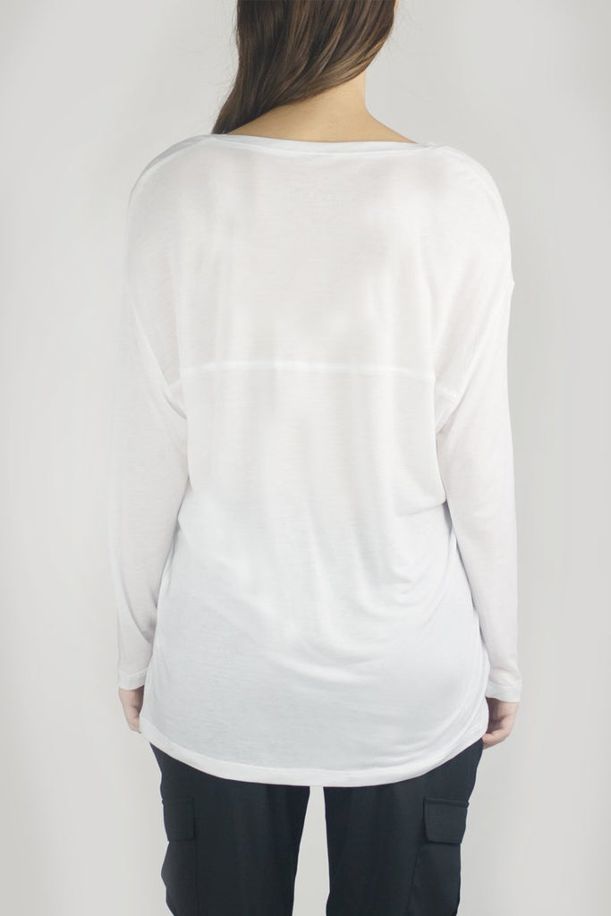 SIDNEY Long Sleeve Luxury T in White