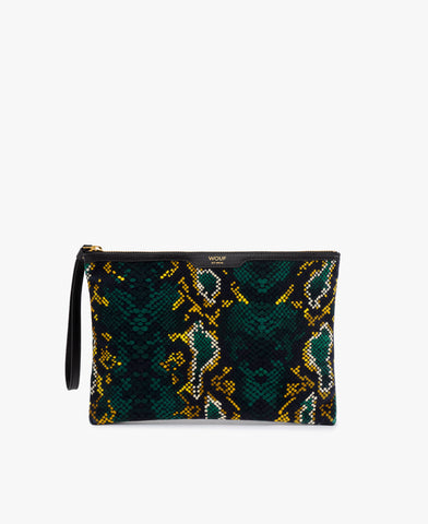 Pre-Order for Dec 12 - Snakeskin Velvet Clutch