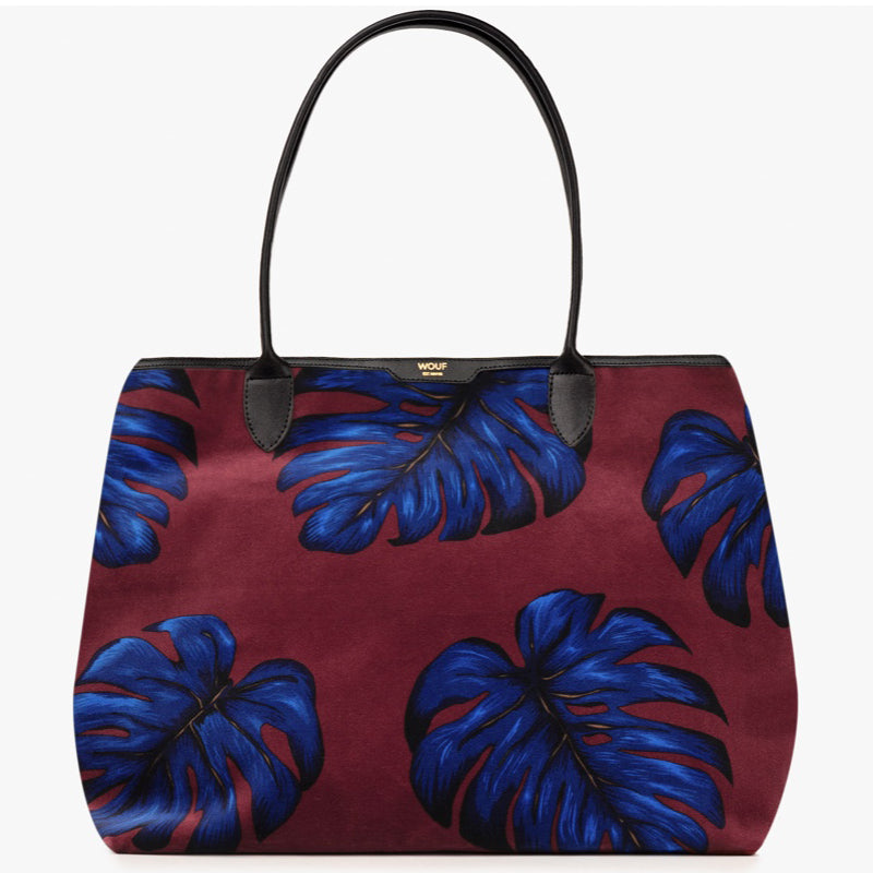 Leaves Velvet Tote