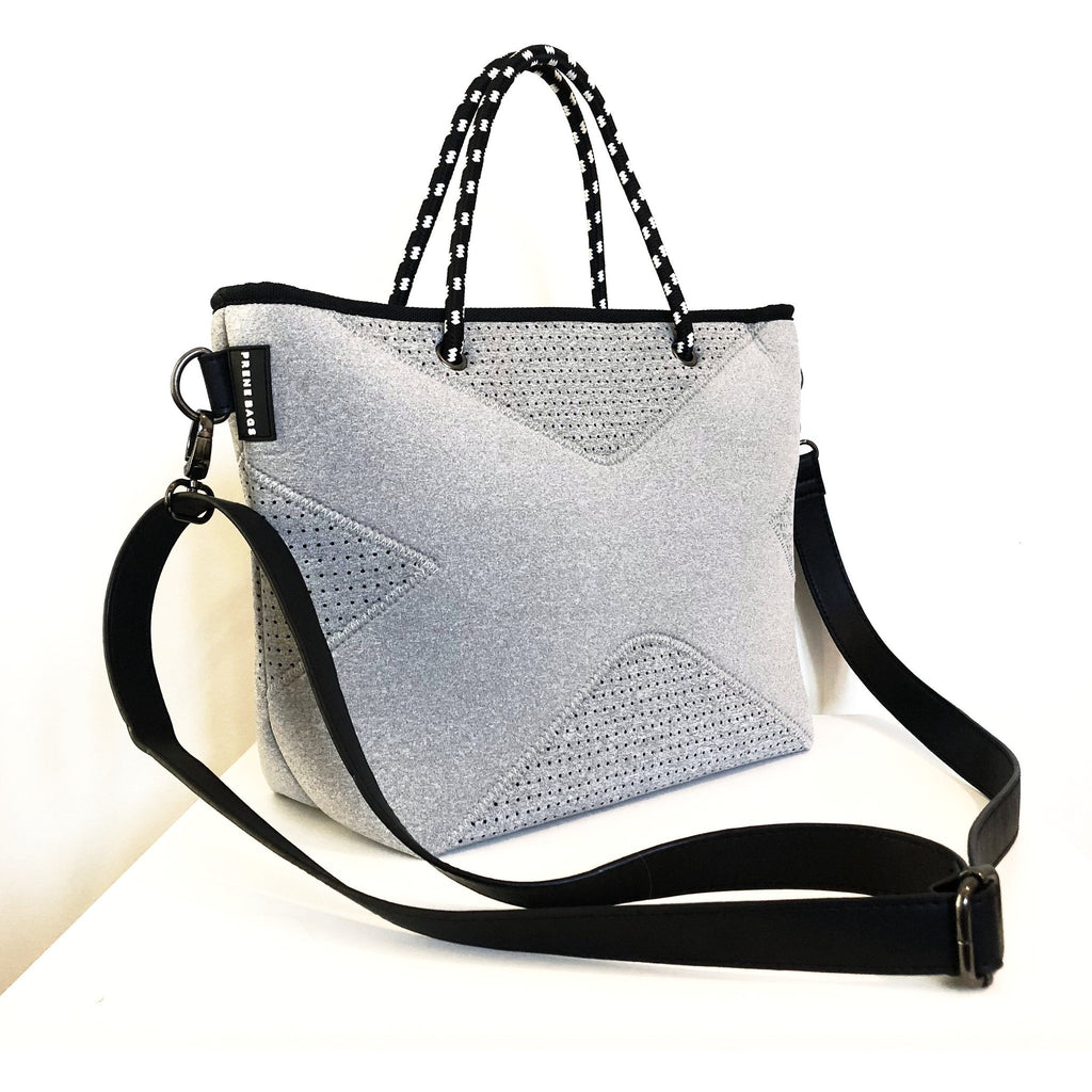 Pre-Order for End of Dec The XS Prene Cross Body/Tote Bag - Grey Marle