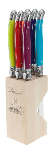 PRE-ORDER Laguiole Debutant 6pc Serrated Knives Set - Wild Flower
