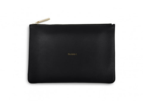 Katie Loxton Black Perfect Pouch  - 'Ta Dah'