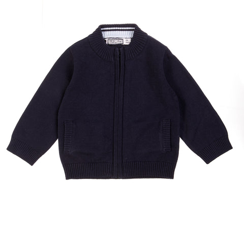 Babybol Navy Knit Cardigan