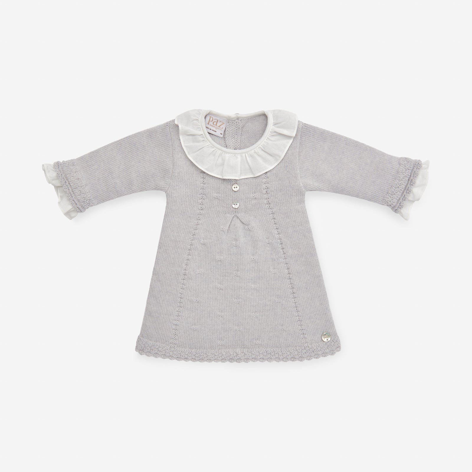 Paz Rodriguez Grey Knitted Dress