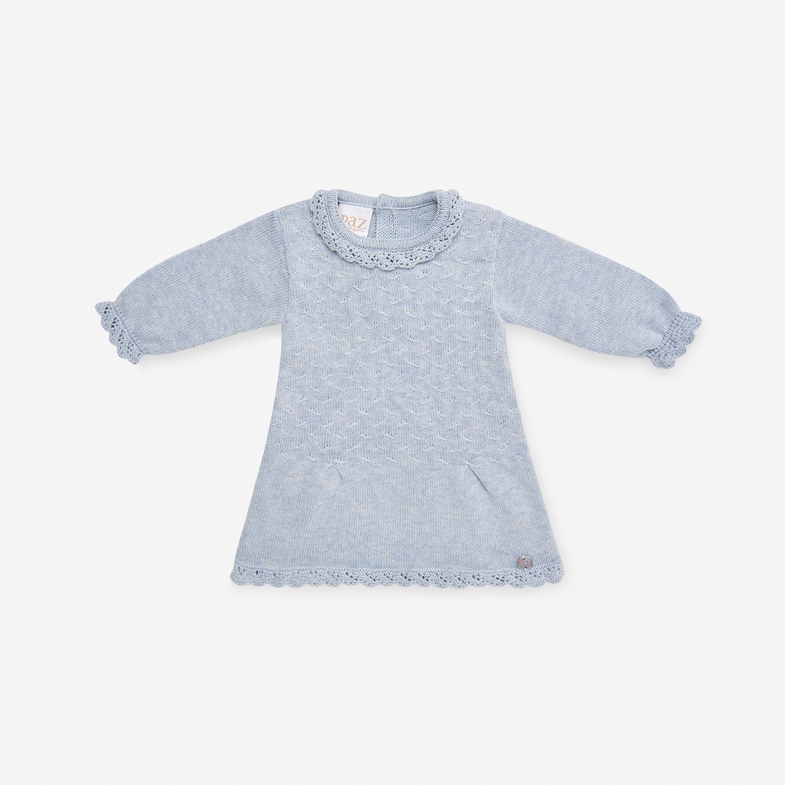 Paz Rodriguez Blue Knitted Dress