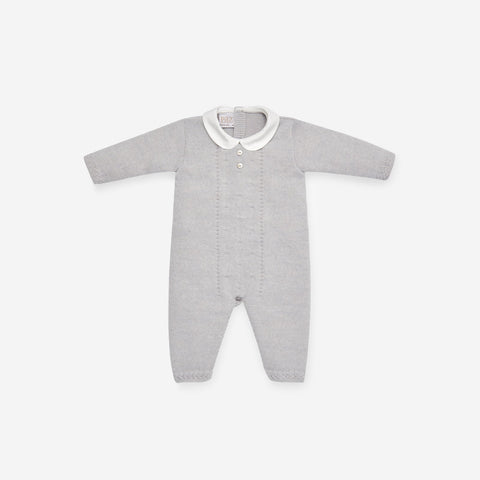 Paz Rodriguez Grey Knitted Playsuit