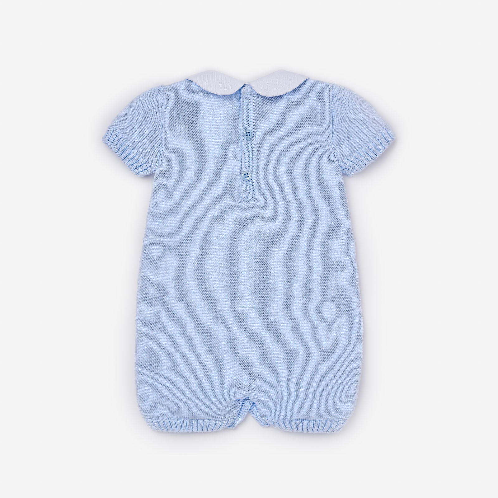 Paz Rodriguez Blue Knitted Romper