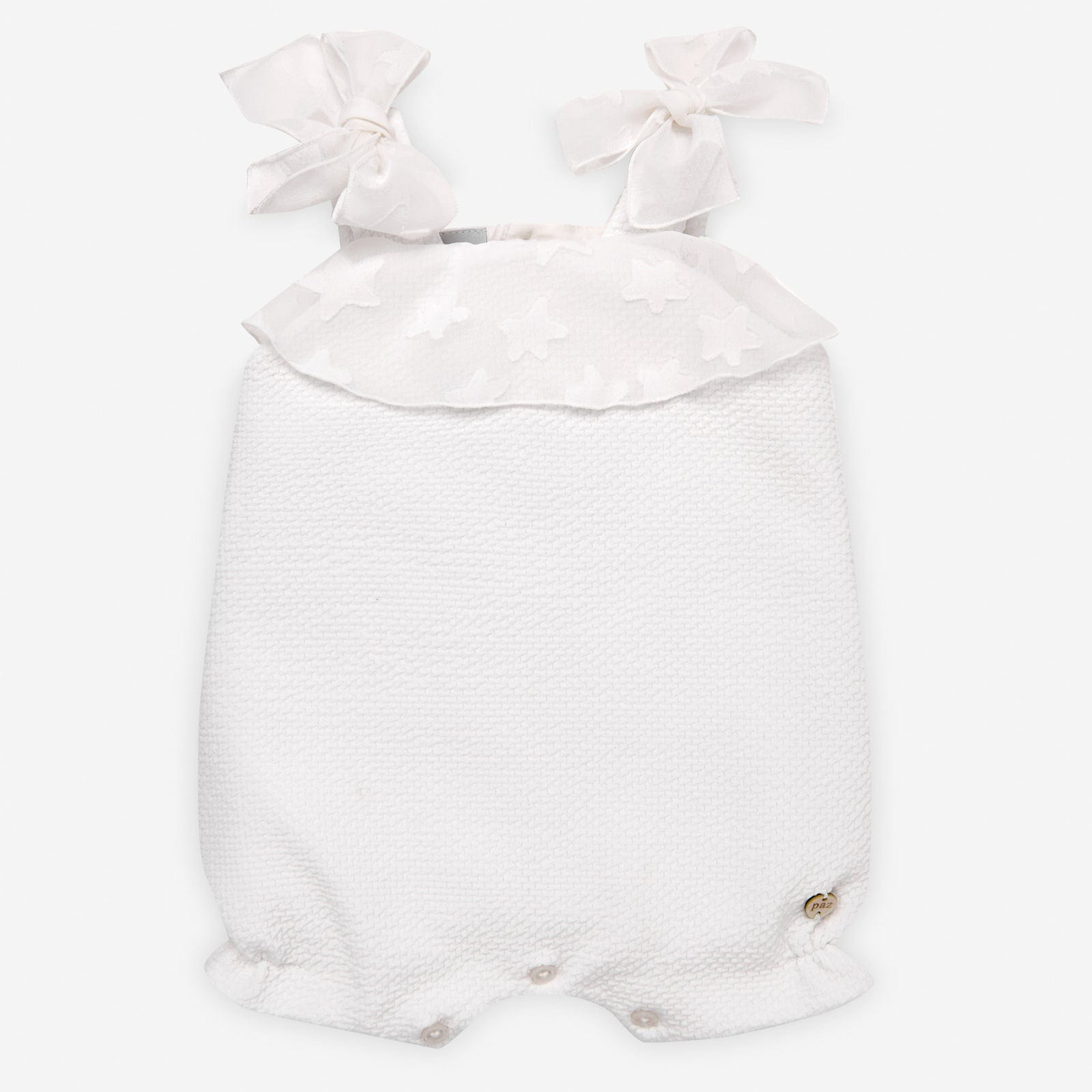 Paz Rodriguez Girls Cream Romper