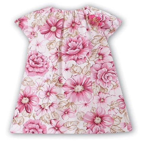 Sarah Louise Pink & Cream Floral Dress