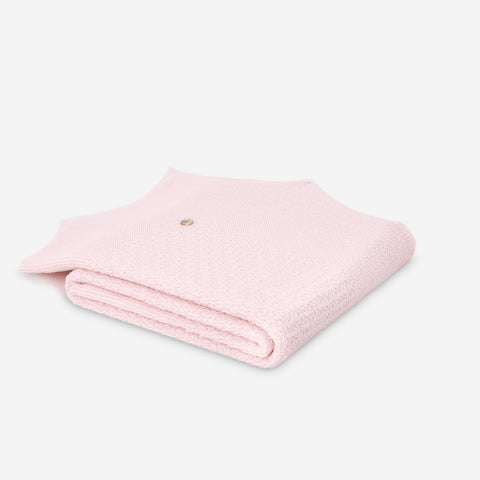 Paz Rodriguez Pink Knitted Blanket