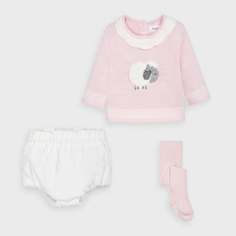 Mayoral Pink Two Piece Set with Tights