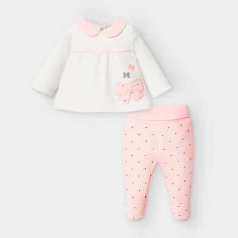 Mayoral Pink & Ivory Two Piece Set