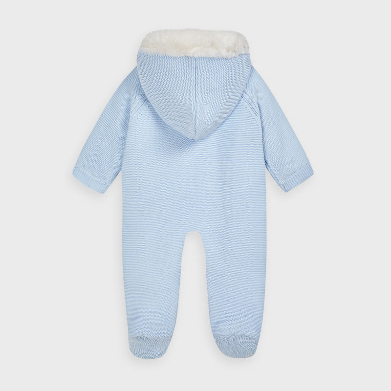 Mayoral Blue Knitted Snowsuit