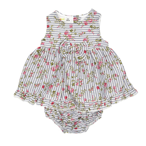 Babybol Roses Striped Dress