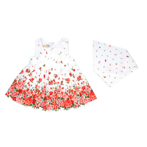 Babybol Floral White Dress