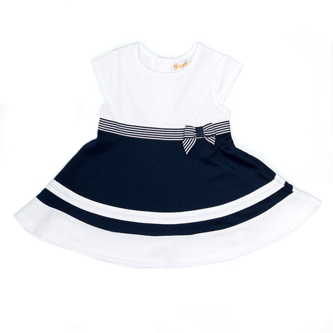Babybol Navy & White Dress