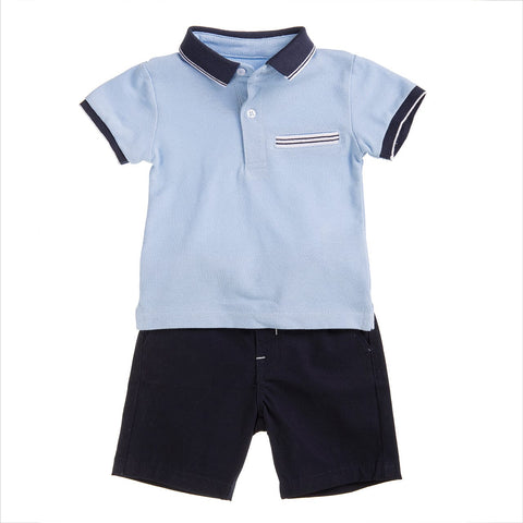 Babybol Boys Blue Two Piece Set
