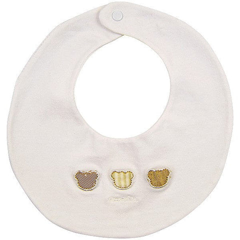 Nanan White Bear Design Bib