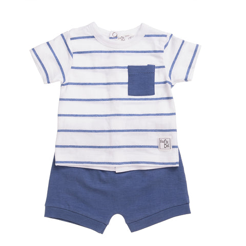 Babybol Blue & White Two Piece Set