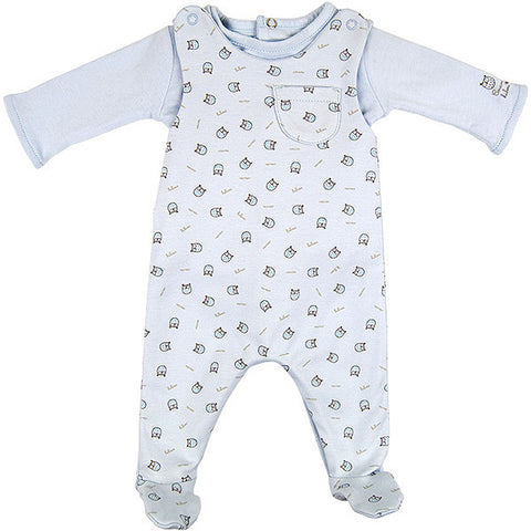 Absorba Blue Two Piece set with Owl Print