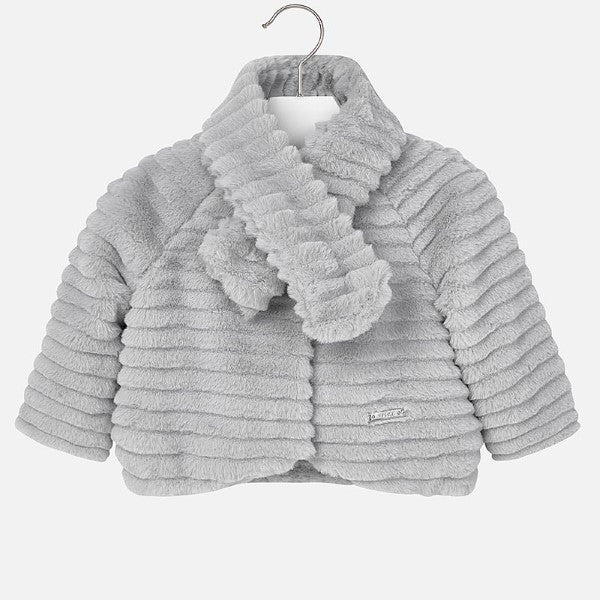 Mayoral Grey Faux Fur Jacket