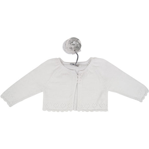 Absorba White Knitted Cardigan