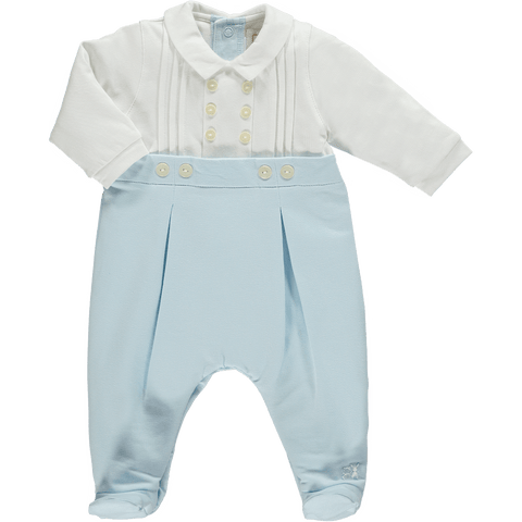 Emile et Rose Blue & White Babygrow