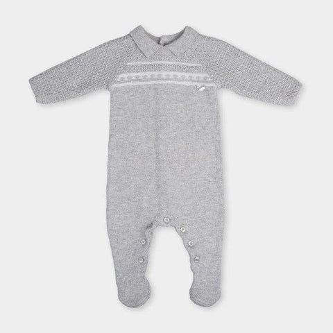 Tutto Piccolo Grey Knitted Babygrow