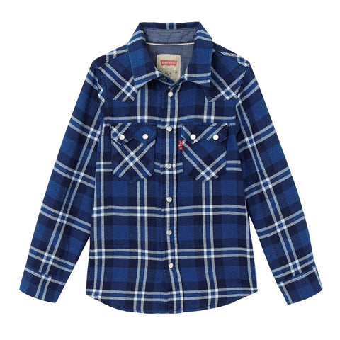 Levi's Blue Checkered Shirt