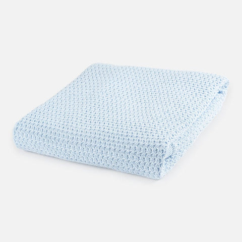 Mayoral Blue Knit Blanket