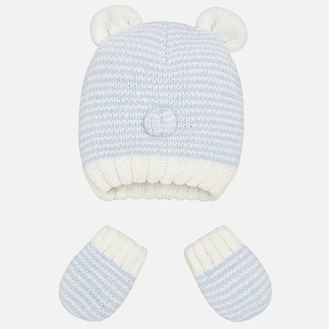 Mayoral Blue Hat & Mittens Gift Set