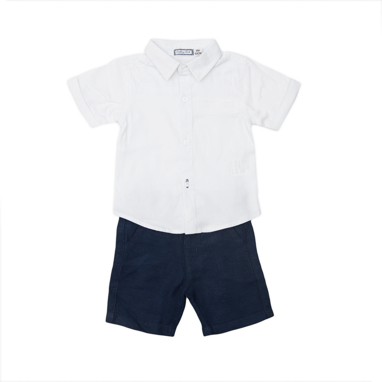 Babybol Navy & White Two Piece Set