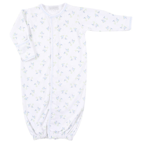 Magnolia Baby 'Little Friend' Blue & White Converter Gown