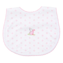Magnolia Baby 'Little Friend' Pink & White Bib